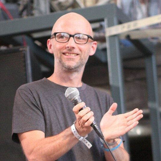 Moby intros OMD for the Spin day party at SXSW